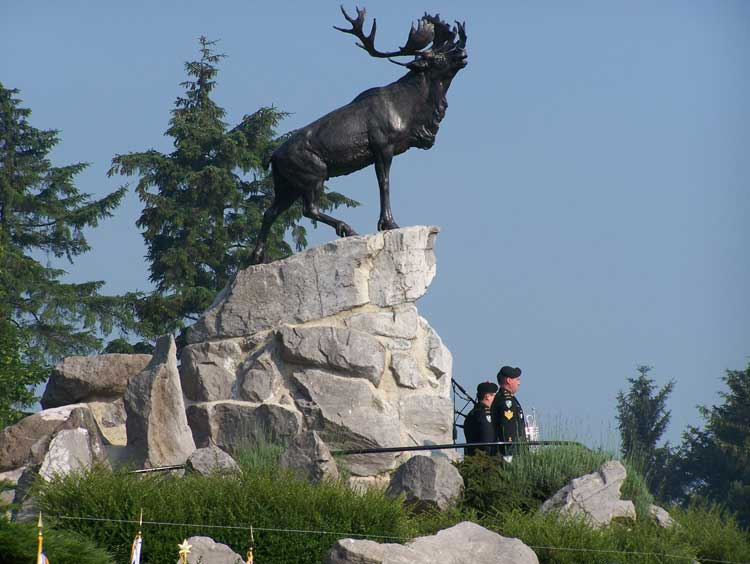 Caribou Monument located at Beaumont Hamel, France - Monument du caribou à Beaumont Hamel, France